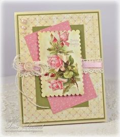 Vintage Birthday by PaperPunchScissors - Cards and Paper Crafts at Splitcoaststampers