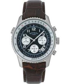 2394a5fdf3e Buy Rotary Men s Brown Leather Strap Chronograph Watch at Argos.