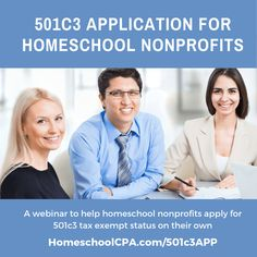 Have you heard that applying for tax exempt status is difficult, time consuming and expensive? Well, it can be, so Carol Topp, CPA the HomeschoolCPA wants to make applying for tax exemp… What Is Need, Non Profit, You Can Do, How Are You Feeling, How To Apply, Homeschooling, Homeschool