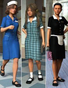 Uniform Dress for Genesis 3 Female(s)