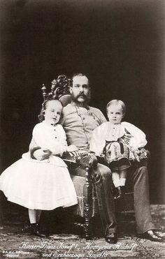 Emperor Franz Joseph with Gisela and Rudolf.