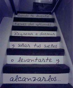 inspiración en la escalera