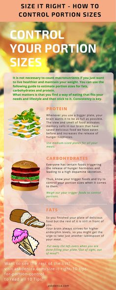 Control your portion sizes to lose weight without depriving yourself. http://askdeniza.com/size-it-right-10-tips-for-portion-control/ #nutrition #weightloss #tips #health #cleaneating