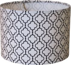 Custom so 2 3 wk turn 11w 12h small drum lamp shade lampshade lampshapes black and white tile lamp shade drum robert kaufman metro aloadofball Choice Image