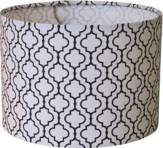 lampshapes.com - Black and White Houndstooth Lamp Shade - Drum ...:lampshapes.com - Black and White Tile Lamp Shade - Drum - Robert Kaufman  Metro,Lighting