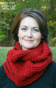 Seven Alive: Long Chunky Crocheted Infinity Cowl