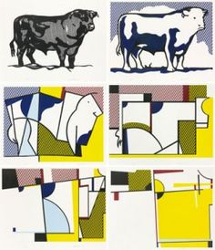 How to Teach Abstract Art, Concept of Abstraction, Roy Lichtenstein, Bull Series, 1973 Abstract Art Lesson art education How to Teach Abstract Art Roy Lichtenstein, Art Pop, Arte Elemental, Art Doodle, Tomie Ohtake, Classe D'art, Piet Mondrian, Elements Of Art, Art Classroom
