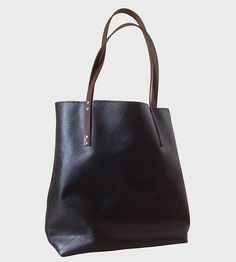Large Leather Tote   This leather tote makes a lovely catch-all for all the essentials