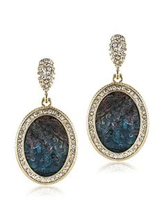 Jardin Oval Figure Head Medallion Earrings