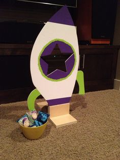 Buzz Lightyear bean bag toss game.