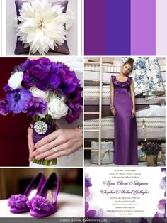 Gold Purple And Silver Wedding | Purple Wedding Theme | Wedding Colors