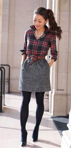fb80401db4a12 The 15 Cutest Ways To Wear Plaid Dresses