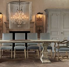Vaille Crystal Chandelier adds masculine touch to a vintage or shabby chic inspired home