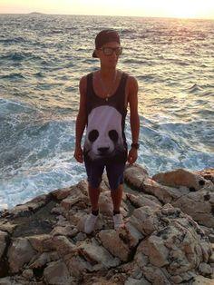 Maciej Kot Polish ski jumper - took our panda tank top on holidays      www.mrgugu.com  #mrgugumissgo #mrguguandmissgo #mrgugu #fashion # #trendy #holidays #gugustyle #tanktop #panda