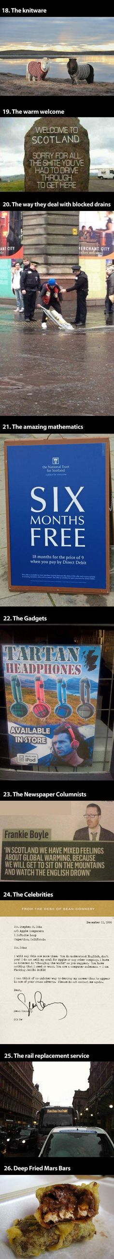 Okay, so I pretty much died when I saw badly photoshopped Mel Gibson in tartan headphones. I NEED to go to Scotland!