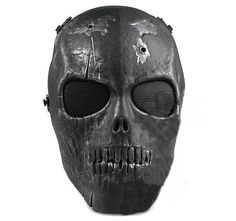 Army Of Two Skull Full Face Mask(Silver black)