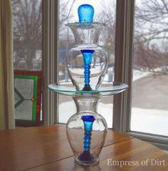 Glass Garden Totem.  This looks great inside also!!!