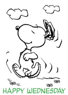 Snoopy Happy Wednesday dance