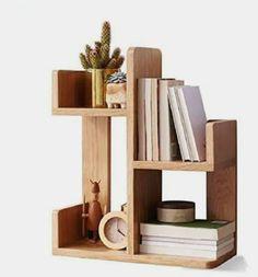 Desktop Bookshelf, Wall Mounted Bookshelves, Small Bookshelf, Wood Bookshelves, Bookshelf Desk, Desktop Storage, Desktop Organization, Diy Desktop Organizer, Tree Bookcase
