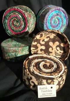 Visit your local fabric store & ask for the Batik Textiles Bali Box.  If they don't have them ask them to stock them for you.  Go to www.BatikTextiles.com for free patterns to create Totes from this fabric.