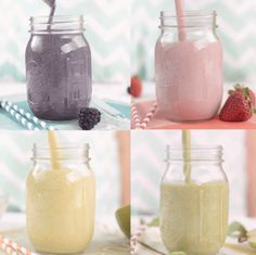 Here are 4 new great high-protein fruit smoothie recipes using Vanilla Protein Powder with Nutritional Booster. I've partnered with Bob's Red Mill to bring you 4 brand new high protein fruit smoothie recipes that make a great breakfast, snack, or meal. High Protein Fruit, Protein Fruit Smoothie, Healthy Fruit Smoothies, Smoothie Blender, Fruit Smoothie Recipes, Strawberry Smoothie, Vegetable Smoothies, Fitness Smoothies, Healthy Drinks