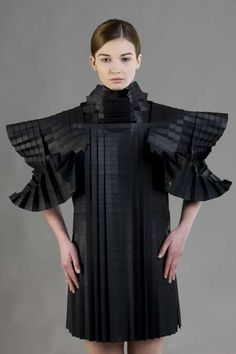 Architectural Fashion - amazing paper dress with complex structure & volume - paper couture; wearable sculpture // Morana Kranjec