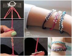DIY Beaded Bracelet diy craft crafts easy crafts diy ideas diy crafts easy diy diy bracelet how to craft bracelet tutorials teen crafts