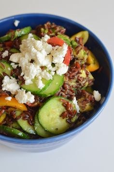 Red Rice Summer Salad for Two {July Salad} via @lucismorsels #vegan #vegetarian