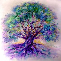 Watercolor tree of life