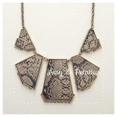Snake pattern necklace Amy de Petatiux