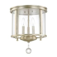 Austin Allen & Company Monroe Collection 3-light Iced Gold Flush Mount - 17756076 - Overstock - Big Discounts on Austin Allen & Company Flush Mounts - Mobile