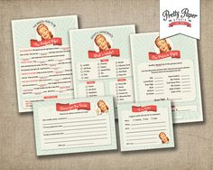 Bridal Shower Game Pack - 50s Housewife Game Cards // INSTANT DOWNLOAD // 1950s Retro Bridal Shower // Printable Digital