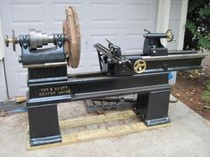 "Photo Index - Fay & Scott - 36"" Pattern Makers Gap Bed Lathe 