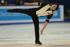Takahiko Kozuka of Japan performs during his men's short program event of the Cup of China ISU Grand Prix of Figure Skating  in Beijing on N...