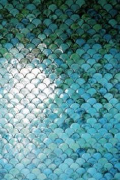 Love these tiles. Scales. Could be any kind of scales... dragon scales, mermaid scales, snake... Whatever you like.