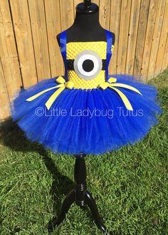 Minion tulle tutu dress by LittleLadybugTutus on Etsy