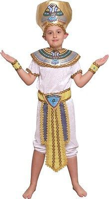 Egyptian Boys Kid Children's Tutankhamen Pharaoh Fancy Dress Costume-KO107