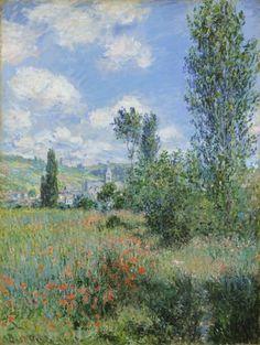 Poster-View of Vetheuil. Artist: Monet, Claude poster sized print mm) made in Australia Claude Monet, Vincent Van Gogh, Artist Monet, Canvas Wall Art, Canvas Prints, Mural Wall, Wall Decor, Pop Art, Kunst Poster