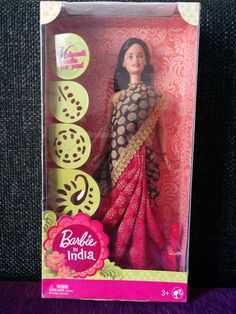 2013 Barbie in India Brown Red Ethnic Saree Jewelry Beautiful Doll 027084449358 | eBay