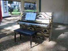 'Play Me' piano in Berkeley Square, Mayfair