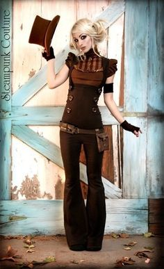 Bridesmaids? For a Zombie Steampunk wedding? Steampunk couture