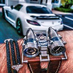 MBandF Watch with StingHD bracelet #watch #watchporn #wristgame #money #rich #millionaire #billionaire #luxury #lifestyle #luxurylife #dreambig #success #mbandf #gentleman #porsche #supercar #dubai #instalike #instacool #mensfashion #jewelry #bracelet