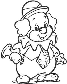 clown free coloring pages