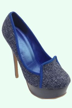 No Pressure-Blue  Cute Loafer High Heel  $40.20  www.ClassyChickClothingOnline.com   5.5, 6,6.5,7,7.5,8,8.5,9,10
