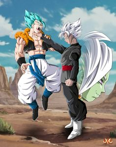 Black Goku VS Gogeta by Maniaxoi.deviantart.com on @DeviantArt