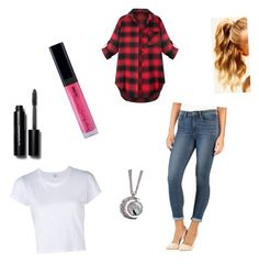 """""""Simple Summer☀️"""" by ariasg on Polyvore featuring Paige Denim, RE/DONE, Hershesons and Bobbi Brown Cosmetics"""