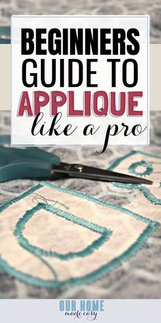 New Totally Free machine sewing hacks Ideas A great how to for beginning sewers who want to learn how to applique using their sewing machine! Sewing Hacks, Sewing Tutorials, Sewing Tips, Sewing Ideas, Serger Sewing, Leftover Fabric, Tips & Tricks, Easy, Love Sewing