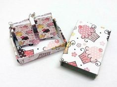 Orecchini MINI LIBRO miniature handmade carta  di OkkinoShop su DaWanda.com