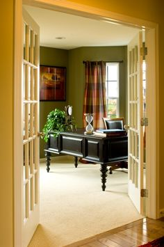 French doors give that extra comfort feel to the study #mykchdreamhome