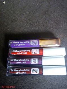 Beyond Beauty 24 Hours Long Lasting Lip Gloss (Top -  Bottom: Colours 10, 07, 11 & 42)